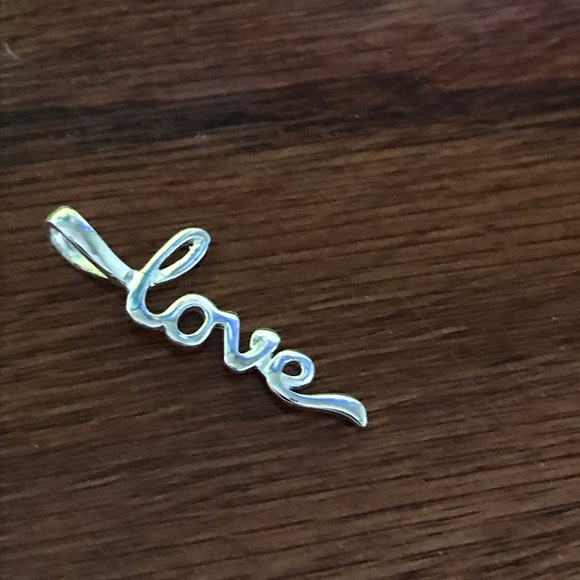 Lord & Taylor Jewelry - LOVE Sterling Silver Pendant